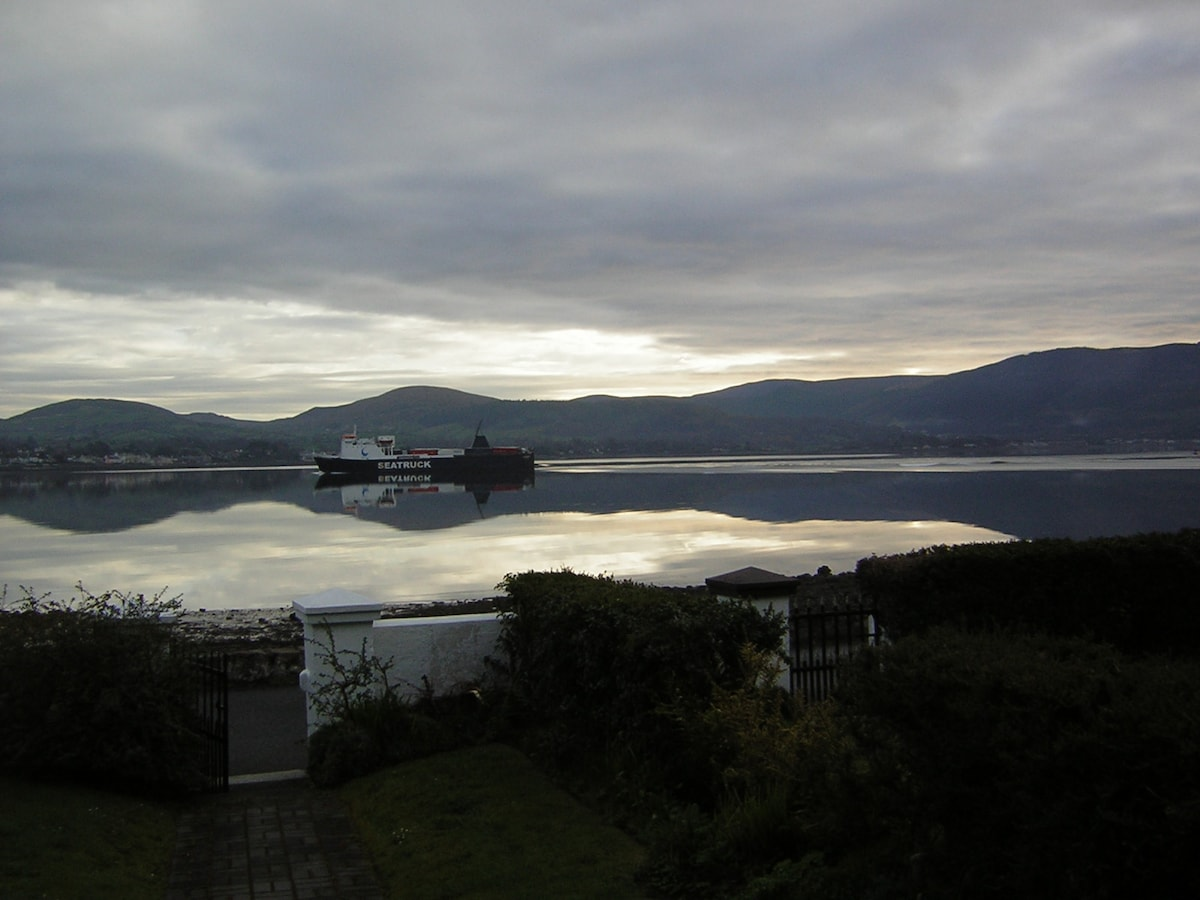 view of the boats going past silently
