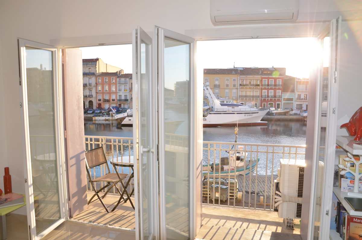 apartment with  canal & sea views