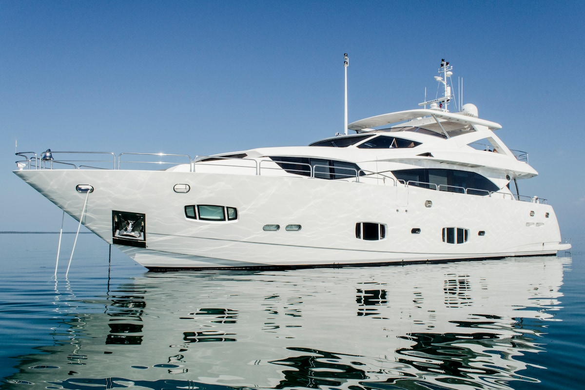 Modern 100 foot luxury yacht
