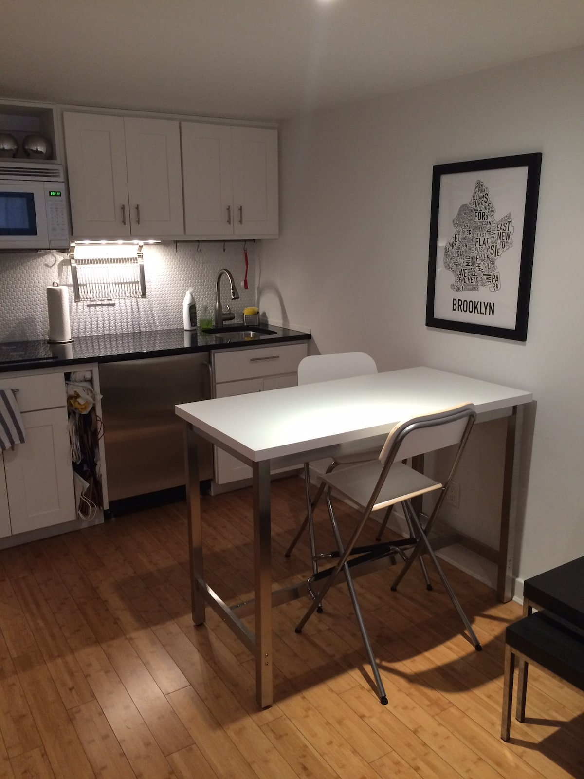 the kitchenette is small but fully equipped