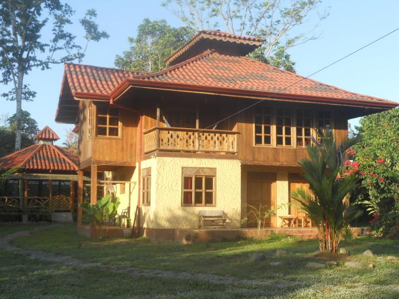 Outside view of the house (with the yoga gazebo in the back)