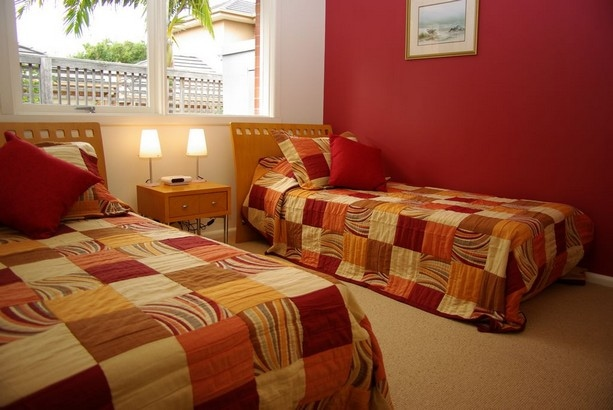 The 2nd bedroom offers a king bed which can be split to 2 singles if required