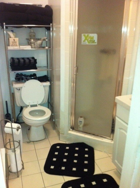This is the bathroom with a shower.