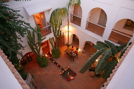 Riad O², patio with Touem room's balcony