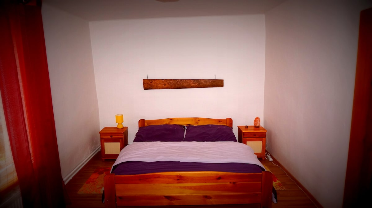 King size bed in main bedroom