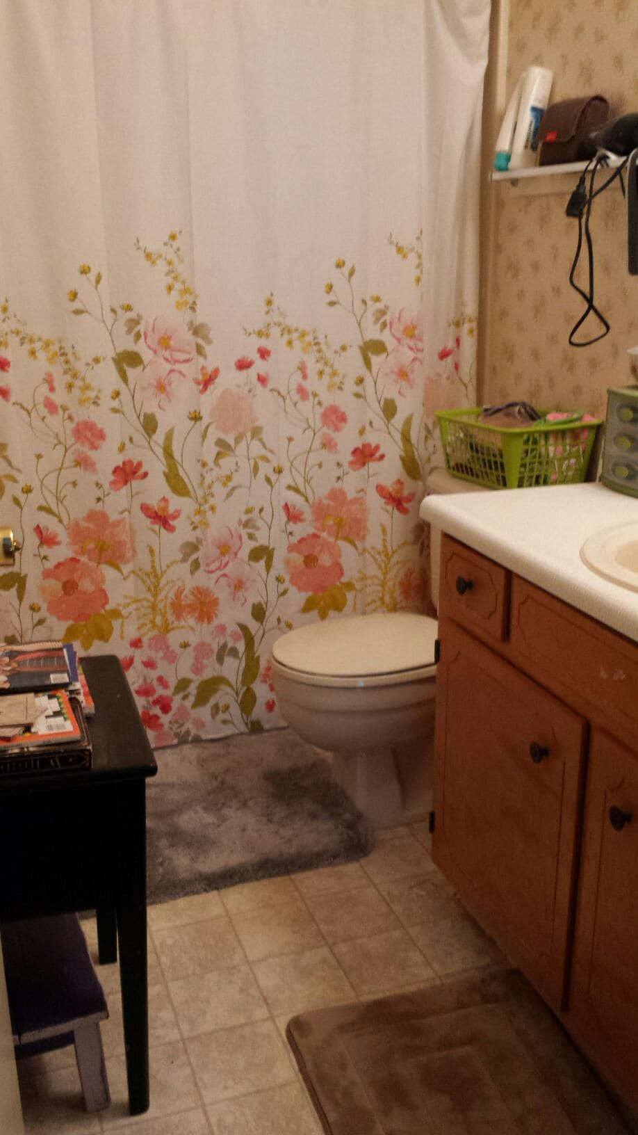Shared bathroom upstairs.