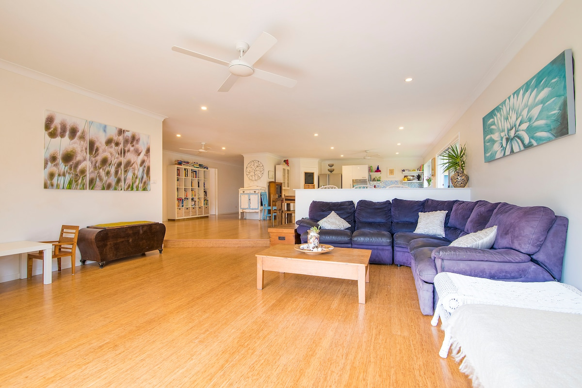Spacious open plan living with space for everyone.