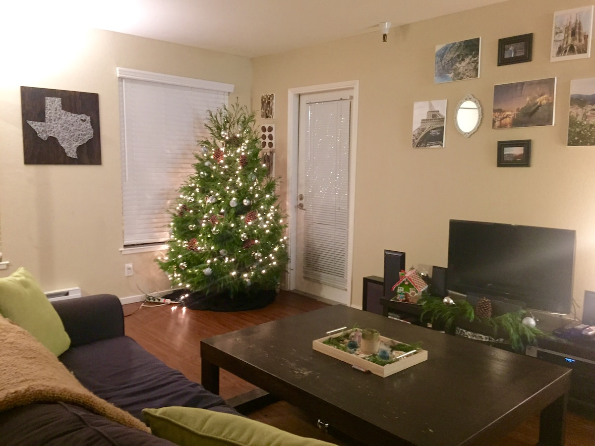 Cozy Apt Ready For The Holidays!