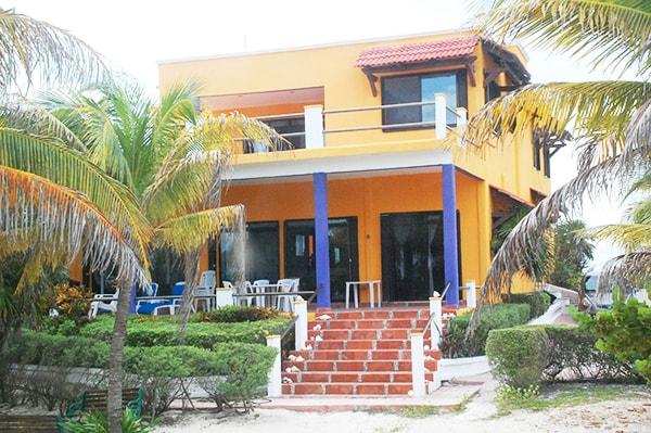 Private beachfront room near Cancun