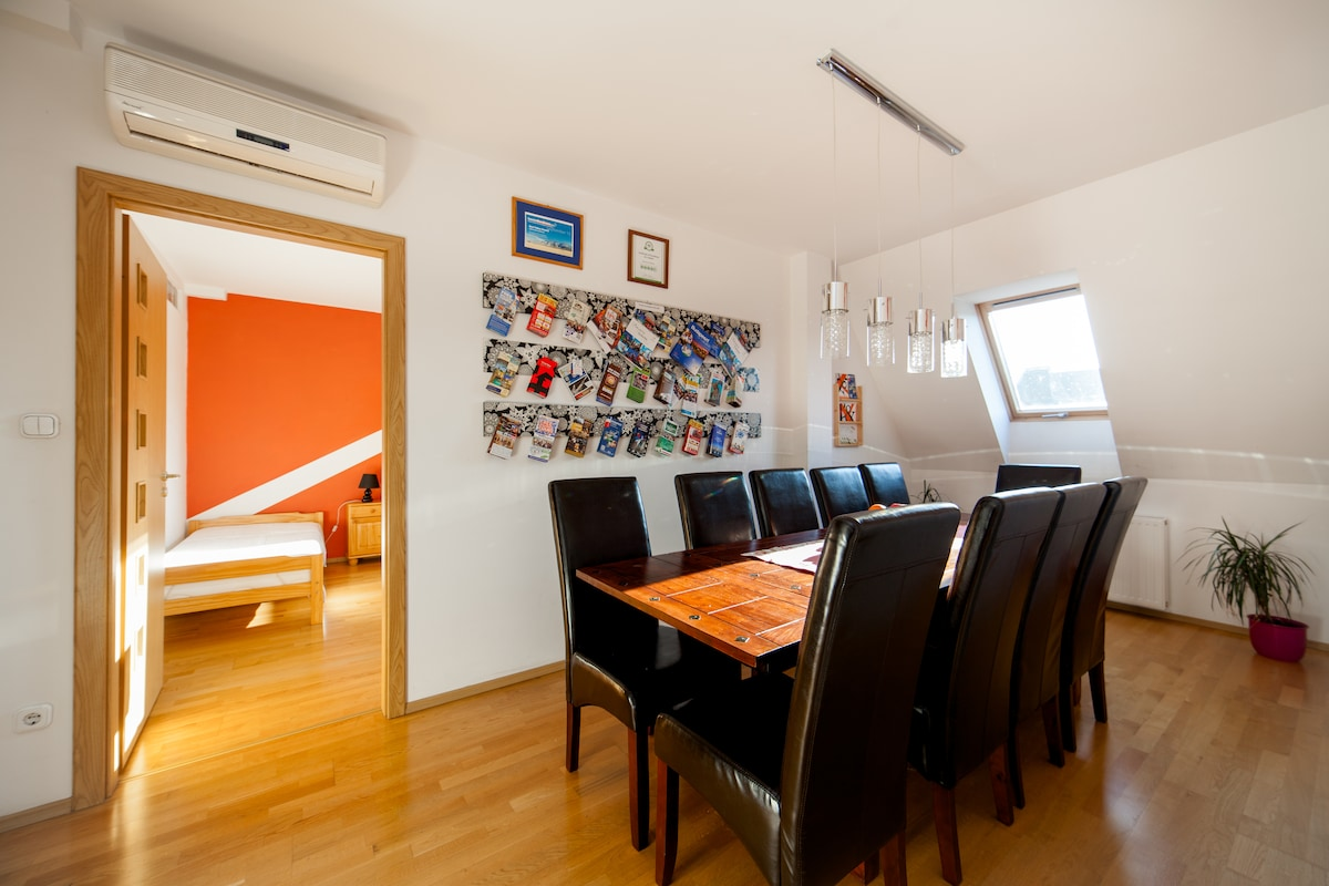 Dining area with dining table on the 1st floor