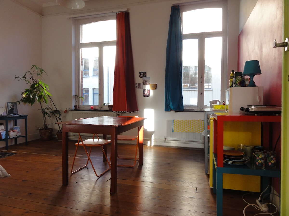 Colorfull studio in Saint-Gilles