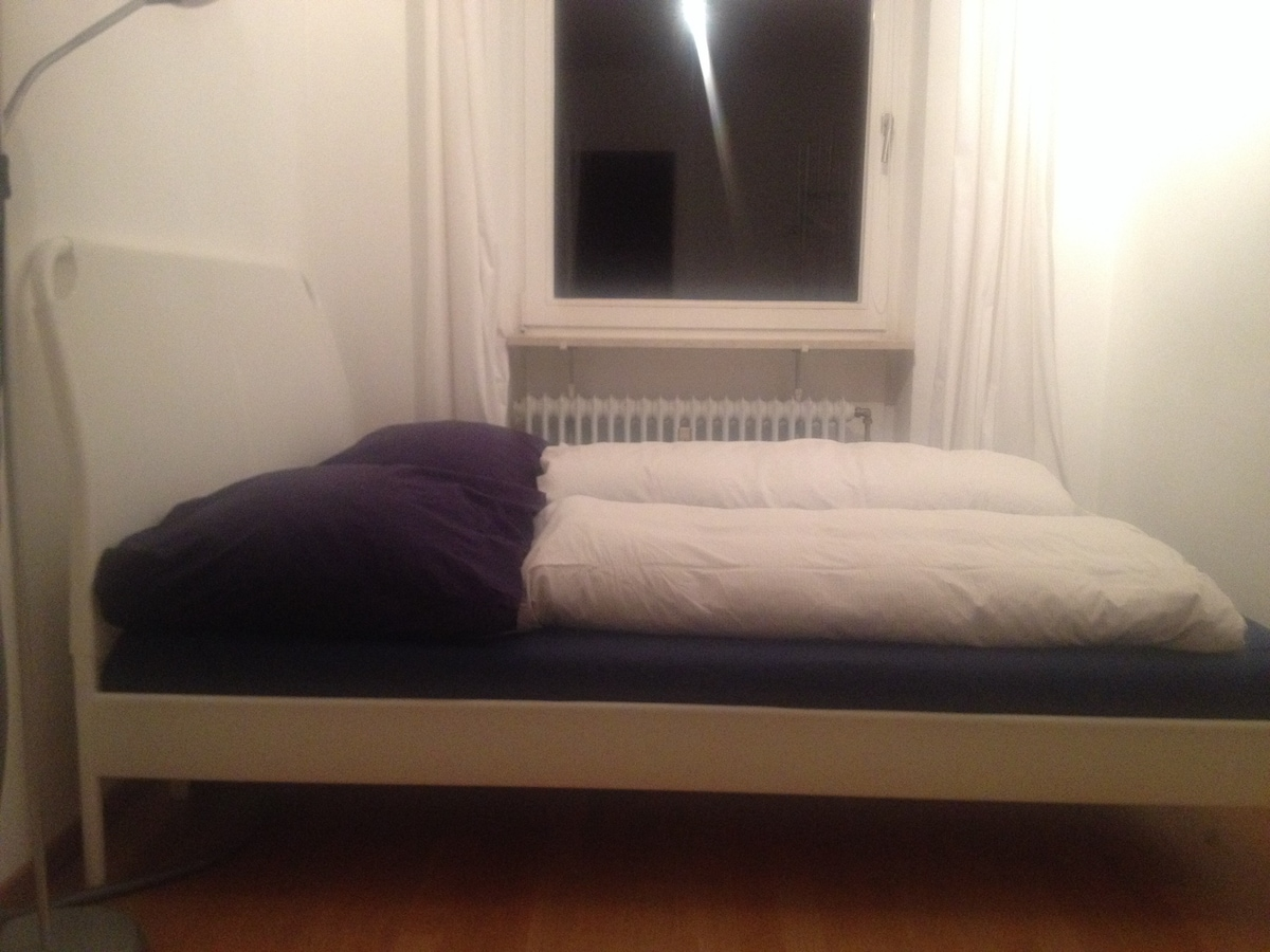 Large double bed two materasses 2mtr length; 1.80mtr wide