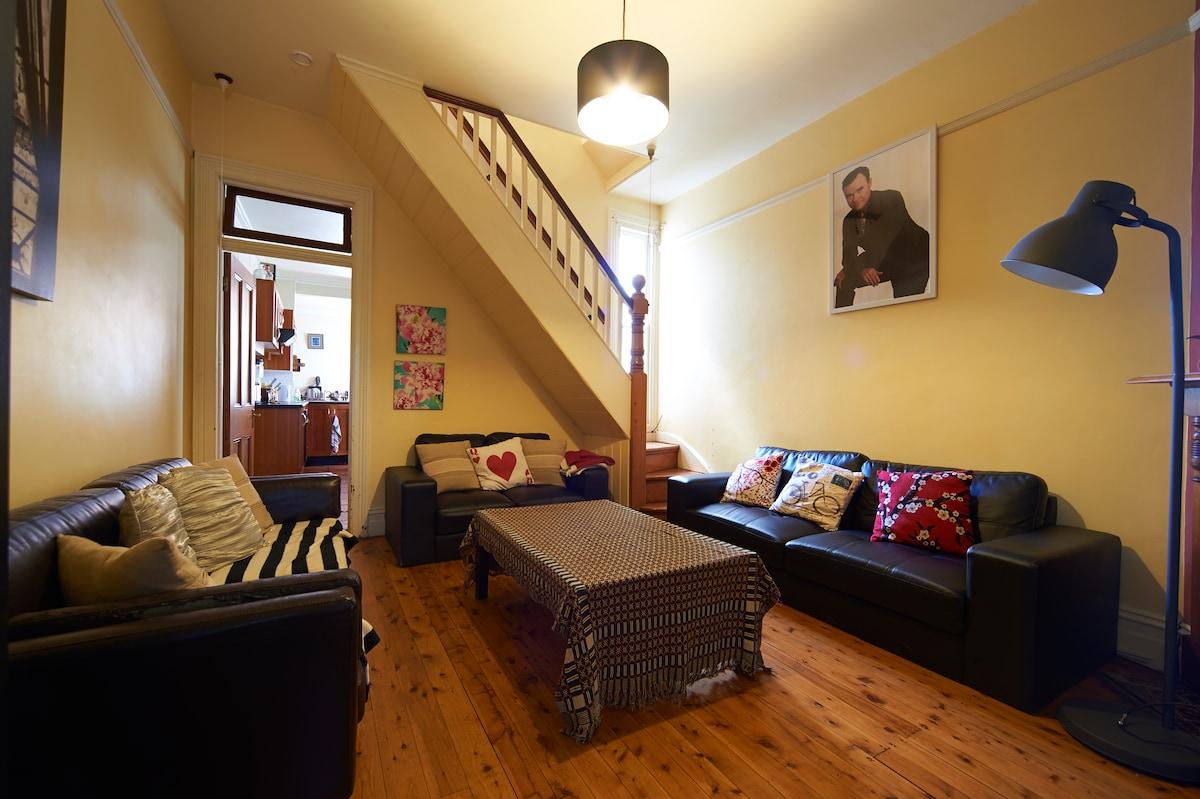 Bedroom in lovely Enmore terrace