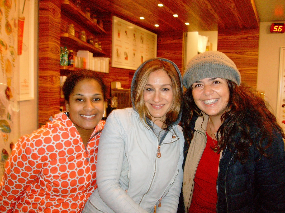Sarha Jessica Parker loves Roma and the delicius ice cream near our B&B! Great!!!!!!