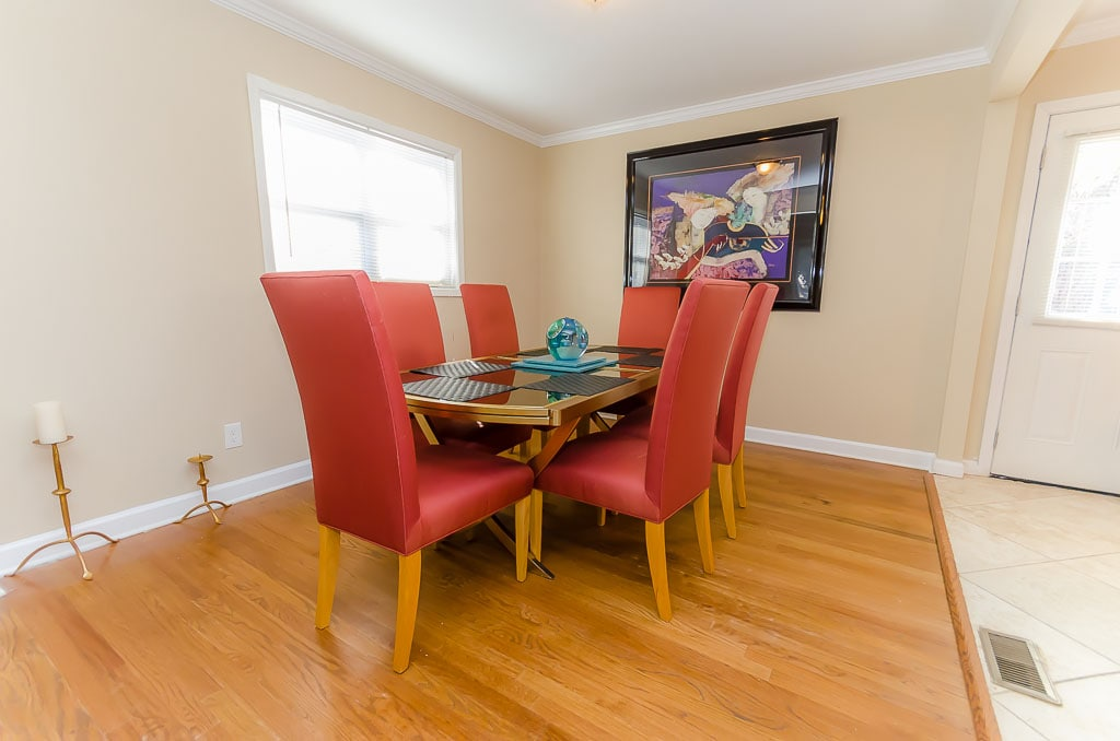 Dining Room at a glance, all hardwood floors