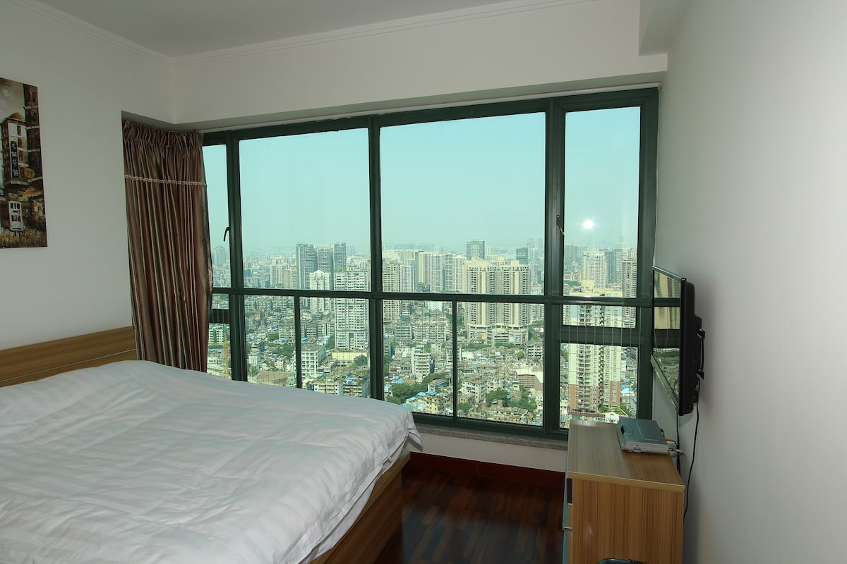 A Full View of Old Guangzhou City from the room