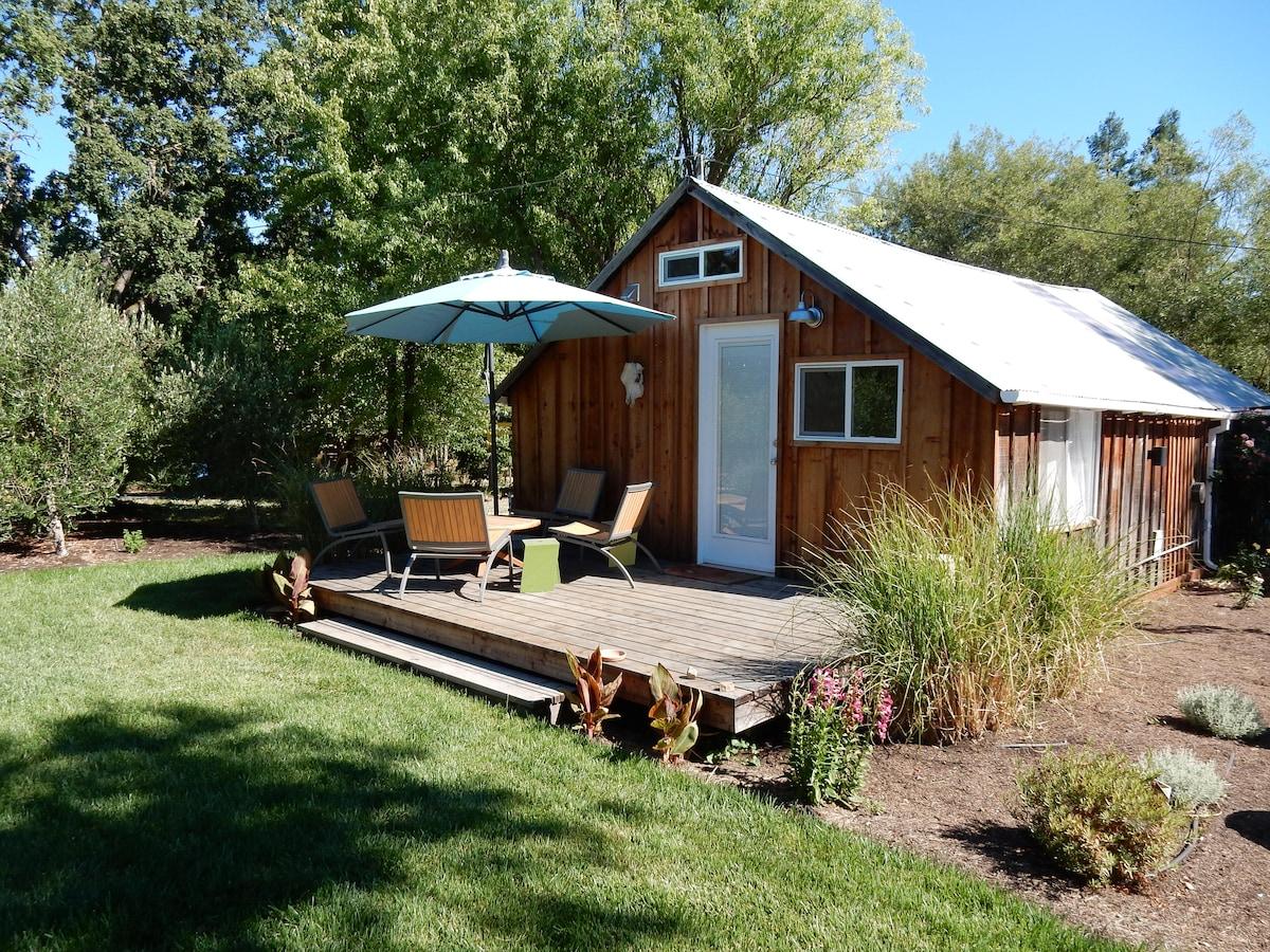 Studio cottage on 2 acres
