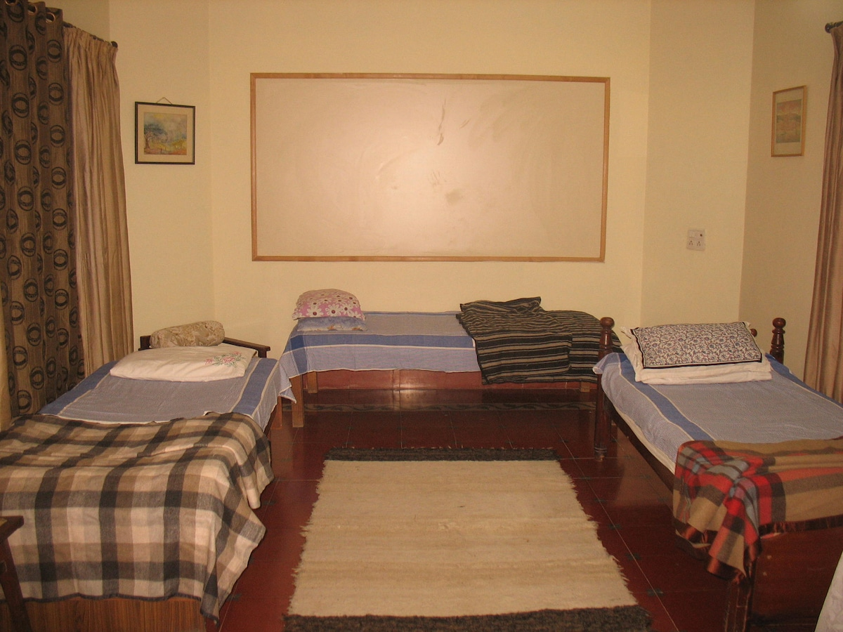 spacious and cozy room with terrace