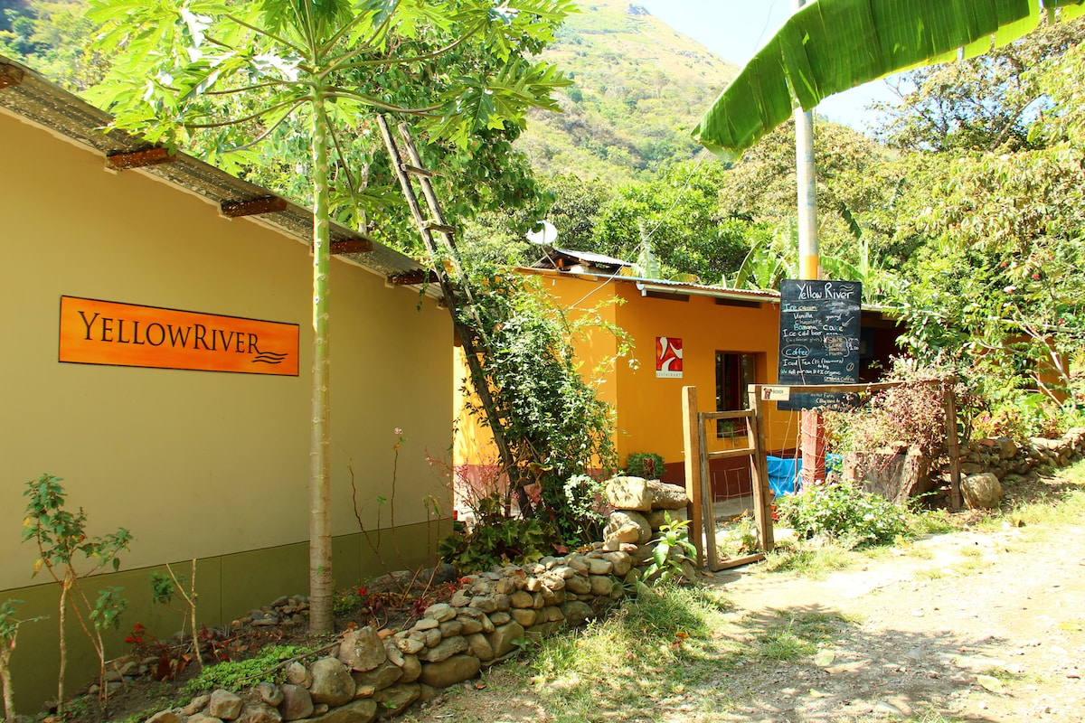 The entrance to our home in the cloud forest a few hours walk from Machu Picchu.