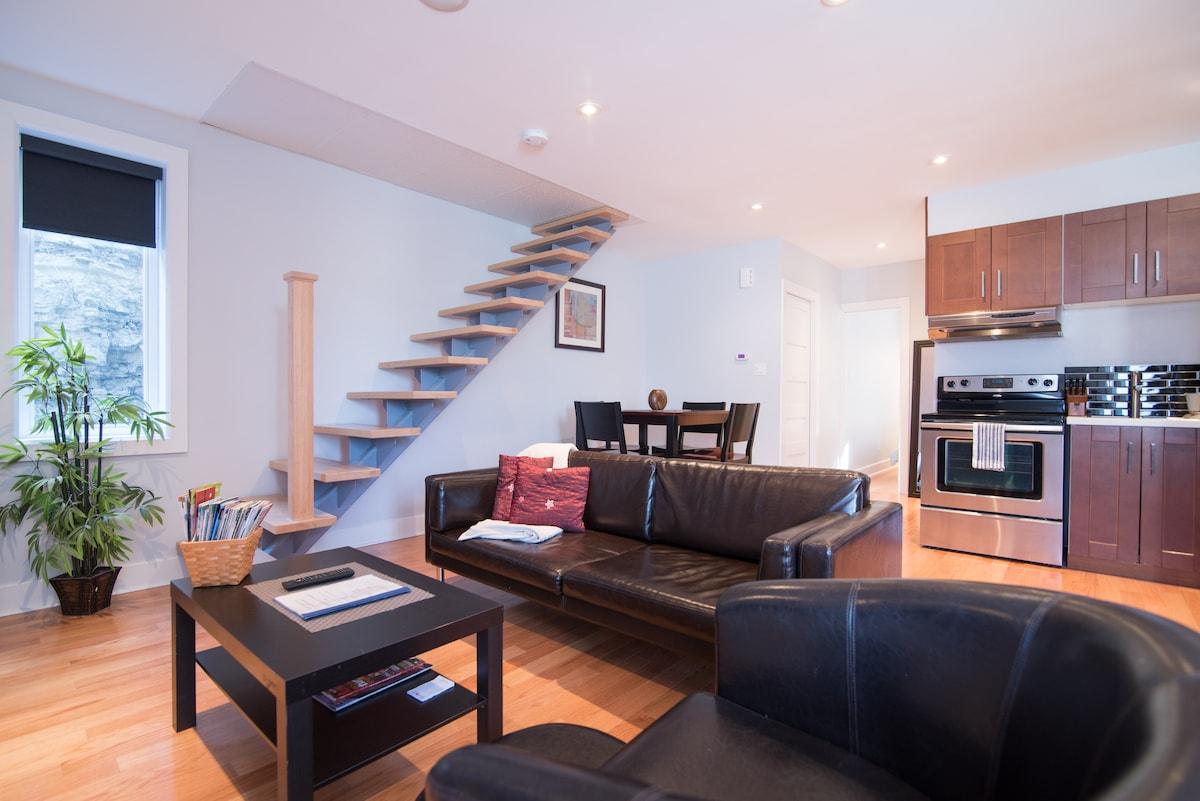 Spacious APT in SUPER modern house