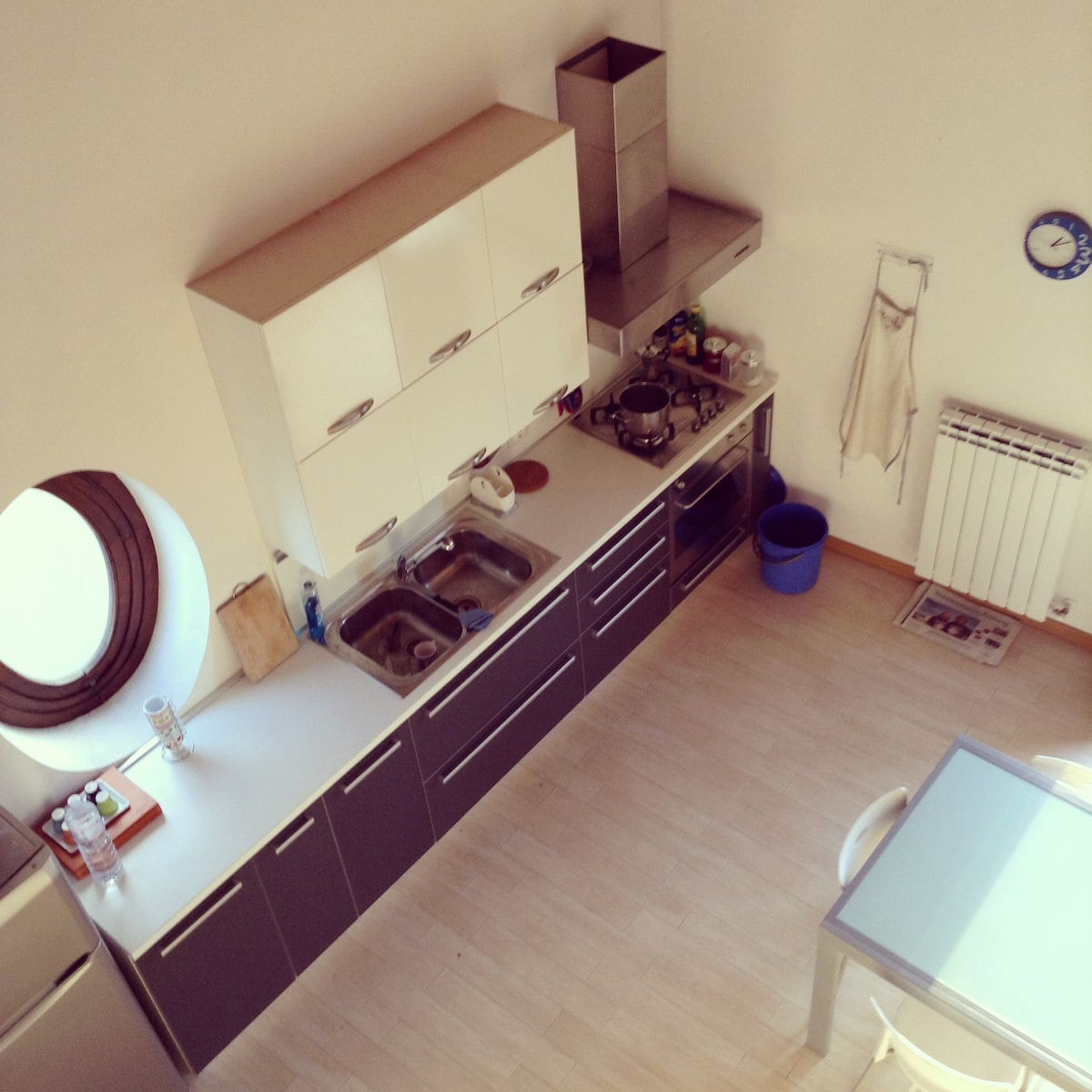 View from upstair of the kitchen