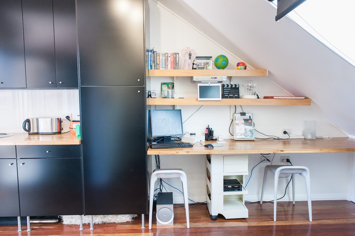 Your 'office' area next to your kitchen