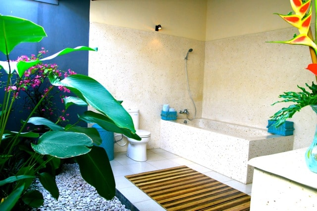 Tropical Bathroom a Great Place to Enjoy Your Aroma Therapy Bath
