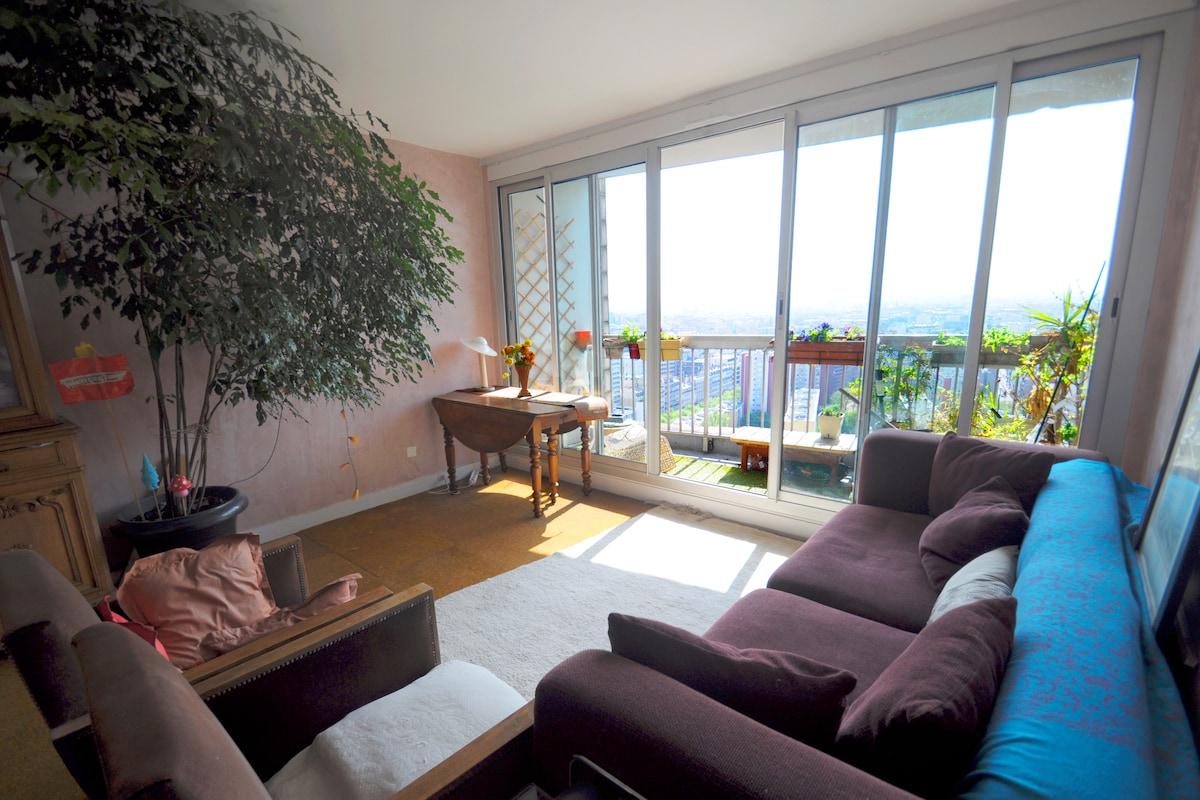 Bel Appartement vue sur Tour Eiffel