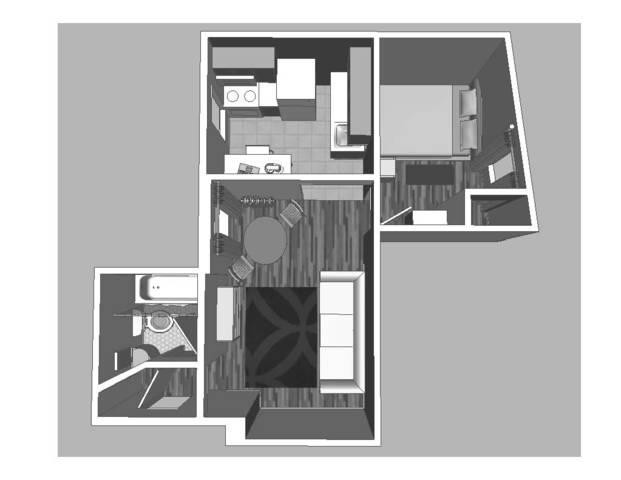 Ground plan of apartment
