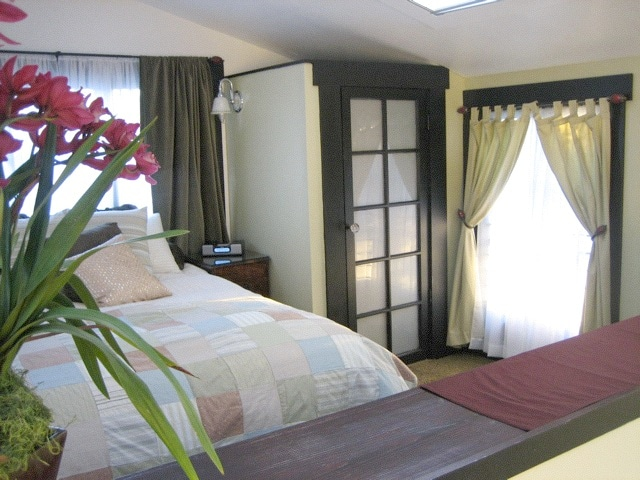 the TreeHouse loft bedroom