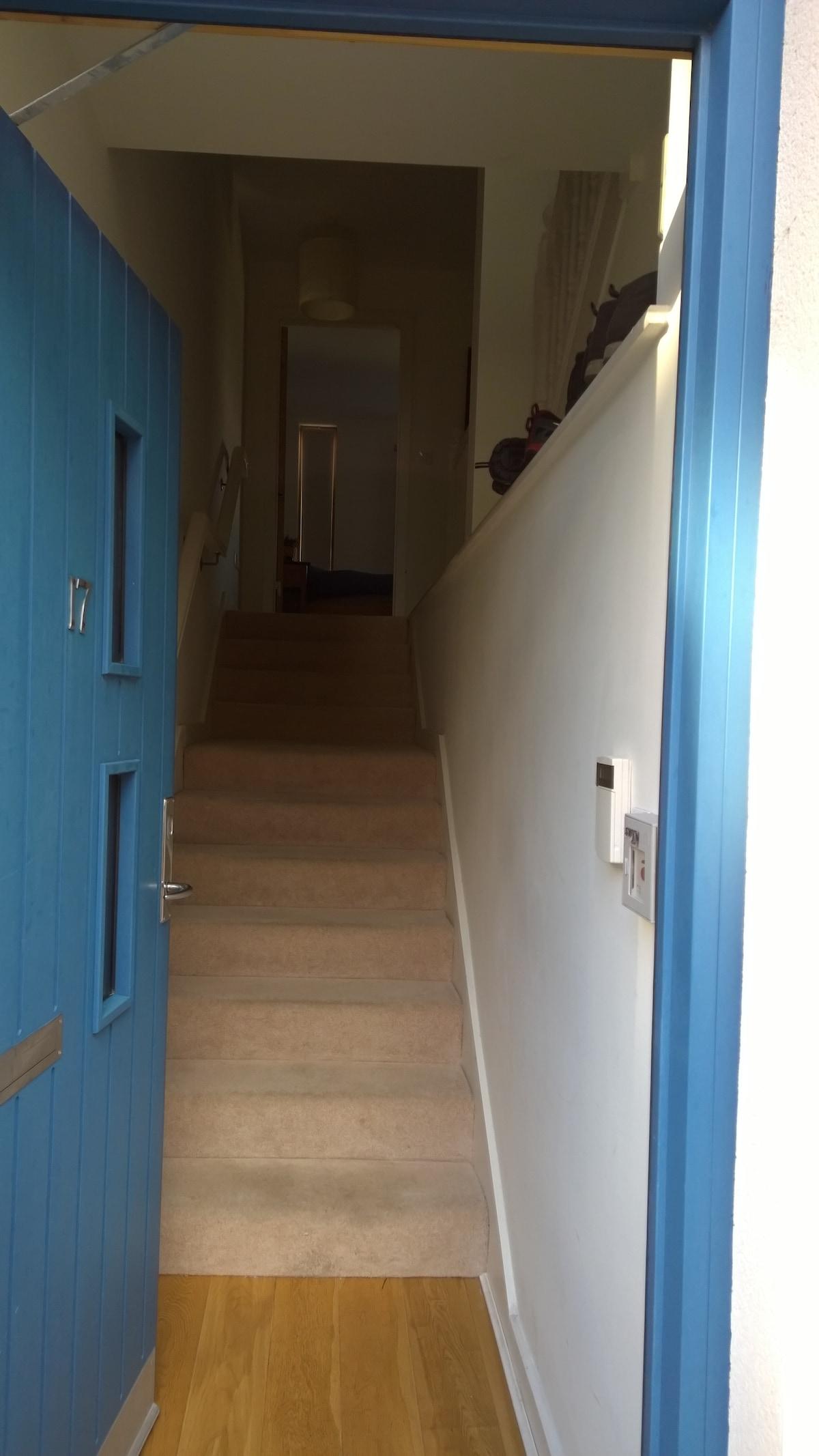 Apartment has own front door