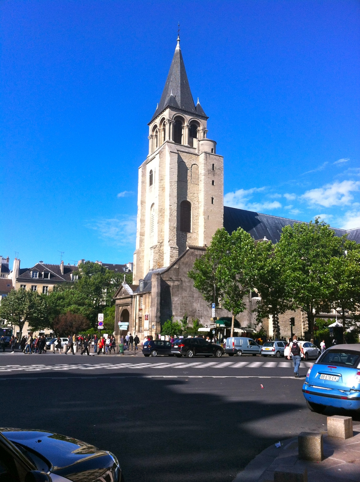 The XIIth century old church of Saint Germain des Près...