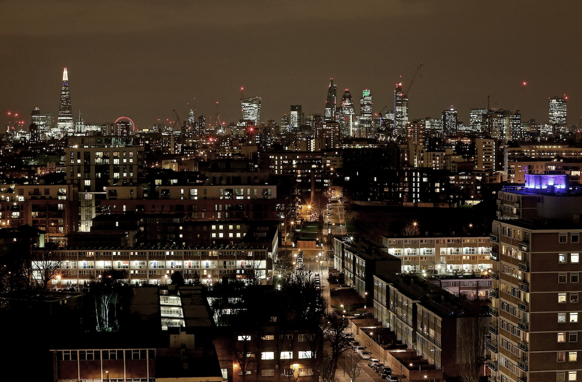 View of London from the balcony