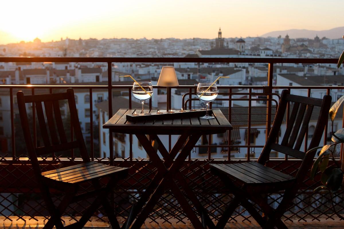 Balcón Luz. Mágnifica vista. 2Rooms