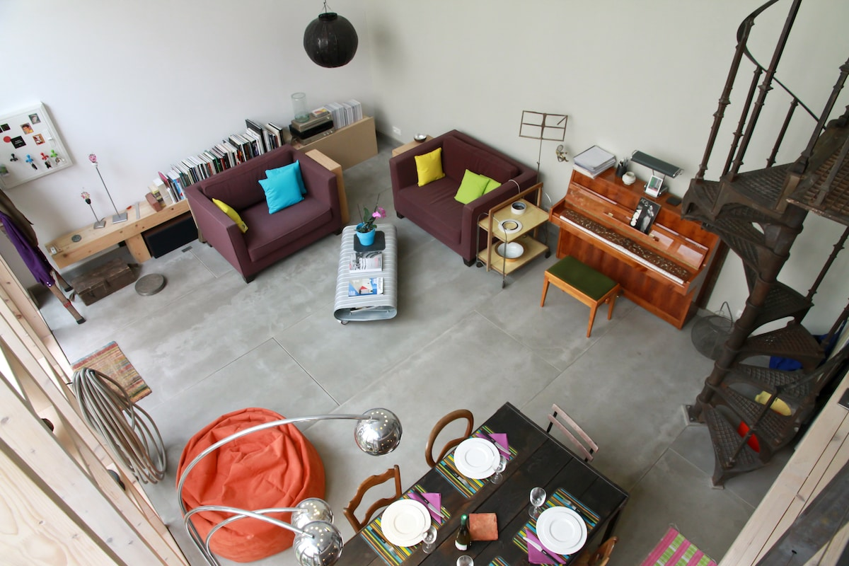 The living seen from the mezzanine