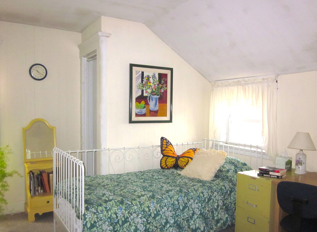 Large, bright bedroom