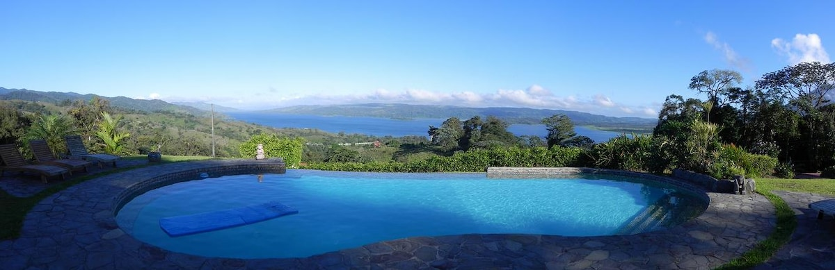 Arenal Lake view from our infinity edge pool...!!!