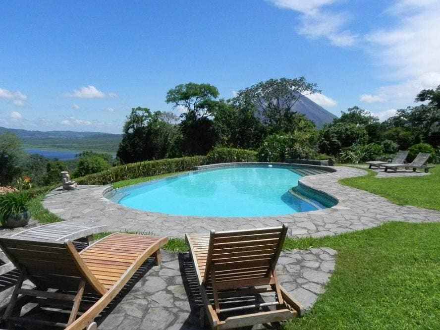 Pool and Volcano at Nepenthe B&B