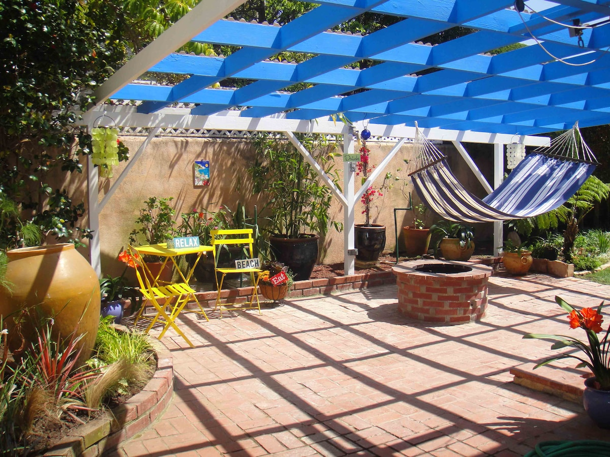 Good Vibrations Back Patio; Eat, Drink, Relax, Beach!