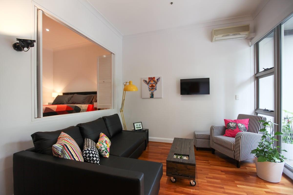 Inner city warehouse apartment