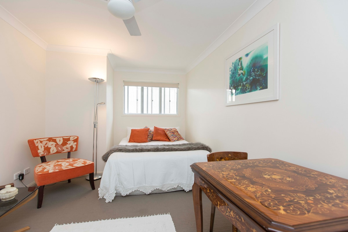 Queen Bedroom with own bath rm.