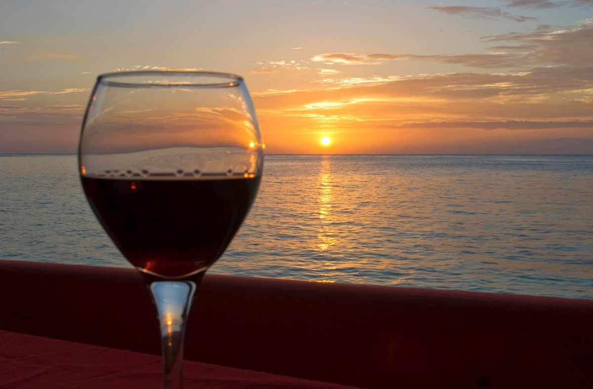 ... enjoy a glass of wine on the balcony, ...
