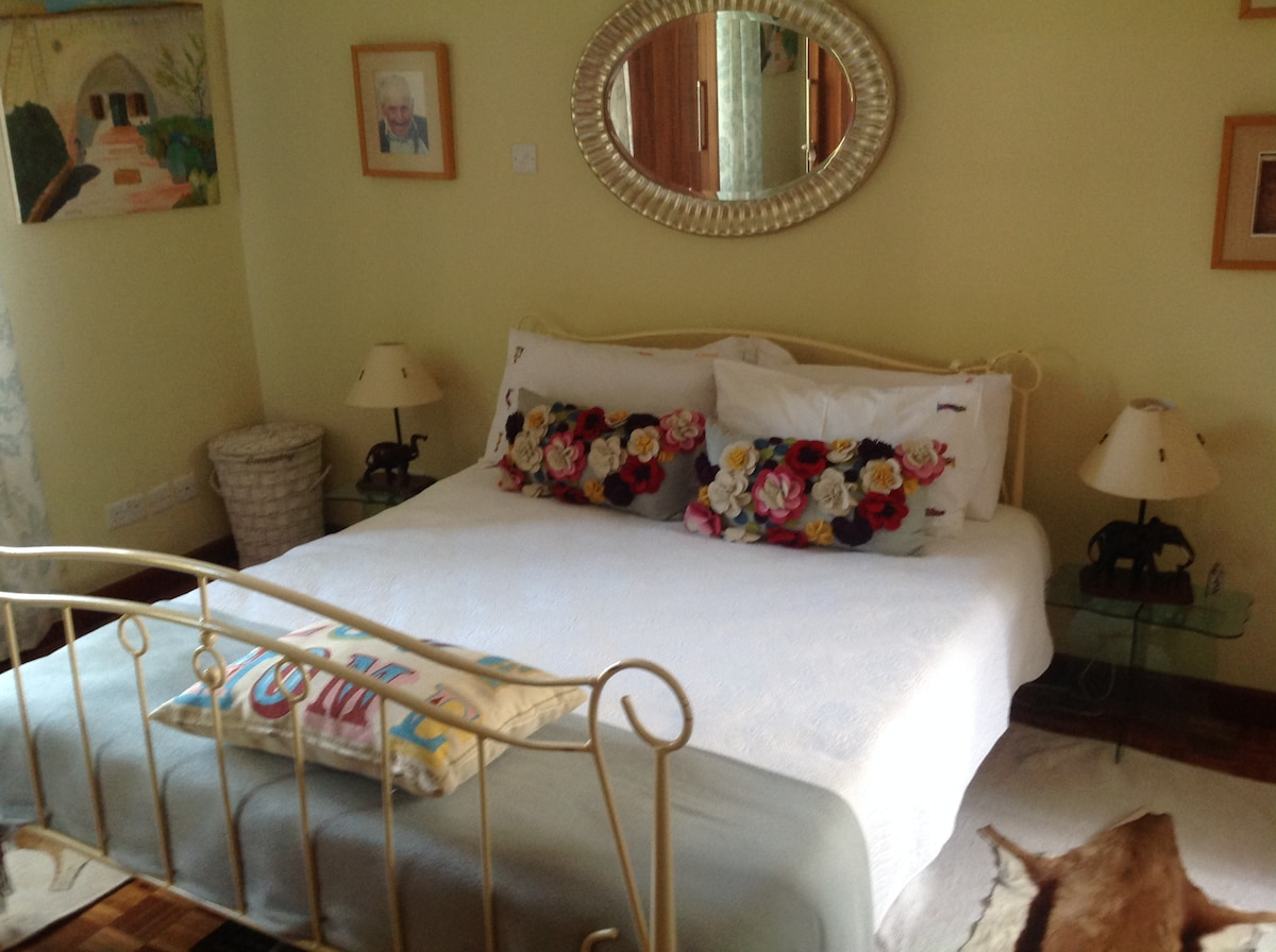 This is a light  airy en suite bedroom known as the blue room