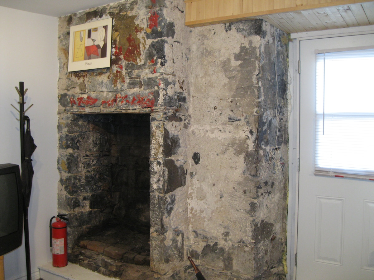 The ground floor first pioneer build in the rock using the stone as material and later brick its a cool very cool place