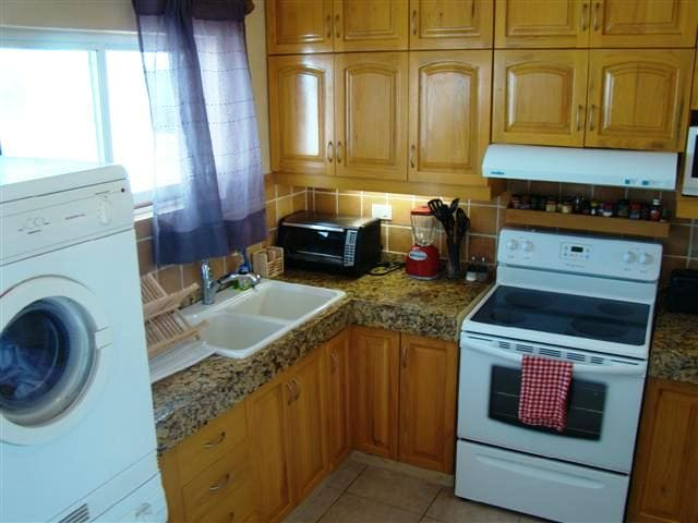 Newly renovated kitchen. Everything you need to feel at home.