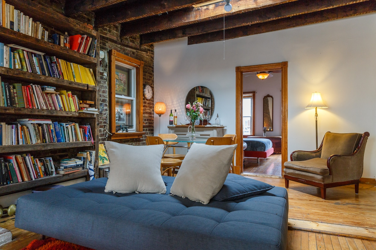 Loads of great books and wonderful comfortable chairs to read in.