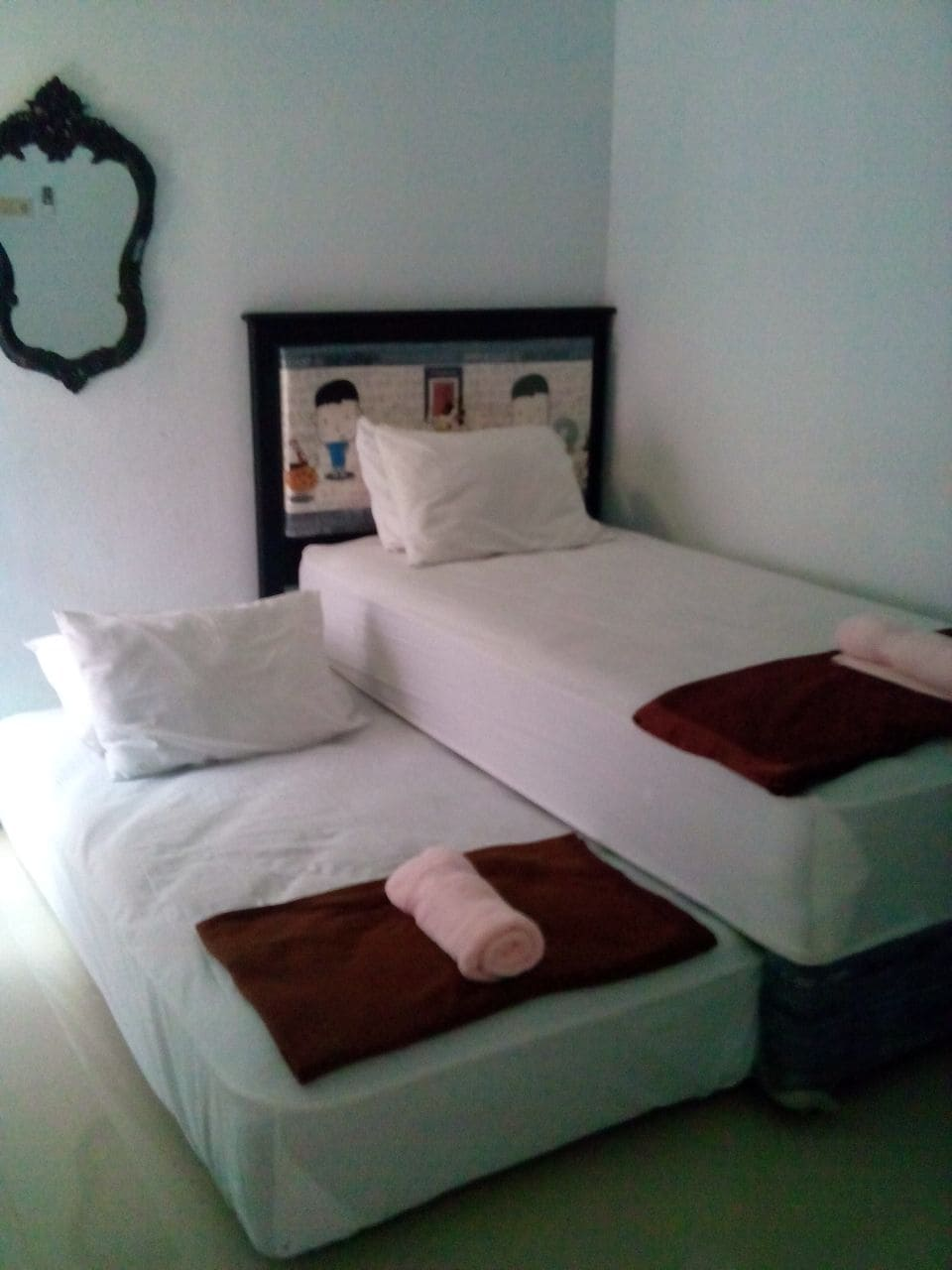 Double Bed Room share Bathroom
