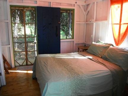 Main floor Bed and front door