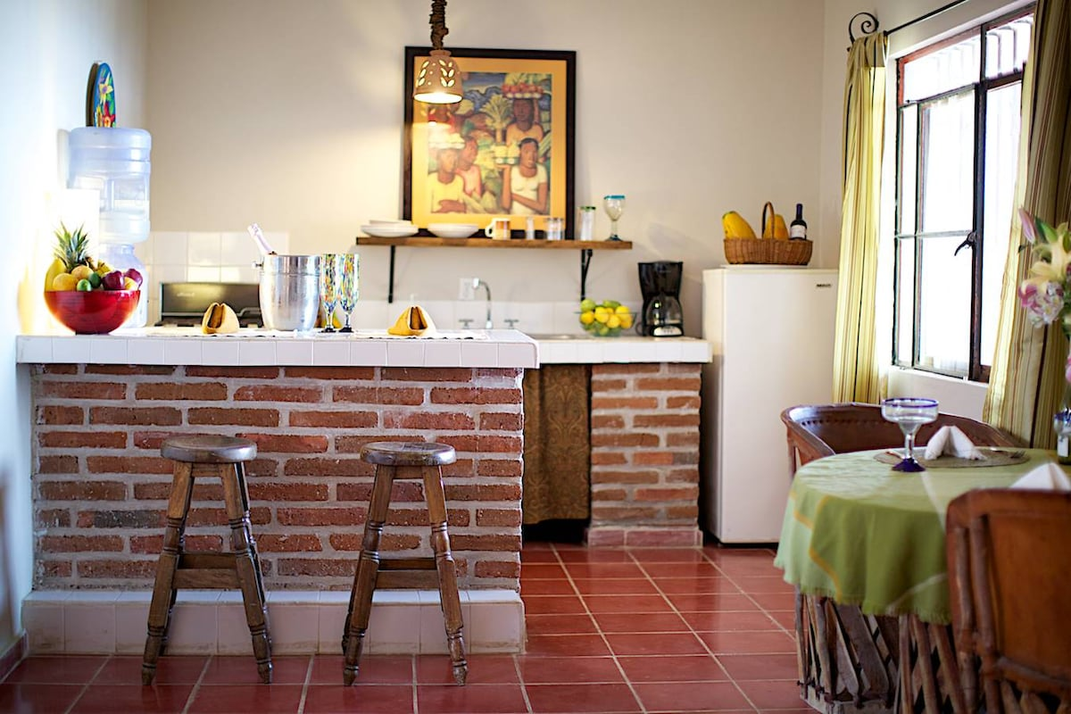 Fully equipped kitchens in all of our rooms