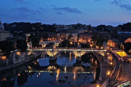 Night view of the Building from Castel Sant'Angelo